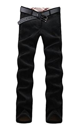XiaoTianXin-men clothes XTX Mens Straight Leg Fleece Lined C