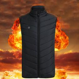 XXL Unisex Electric Heated Jacket Vest Coat USB Winter Warme