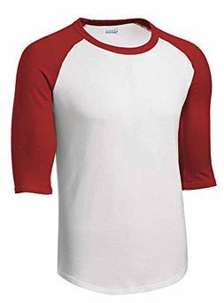 Mens or Youth 3/4 Sleeve 100% Cotton Baseball Tee Shirts You
