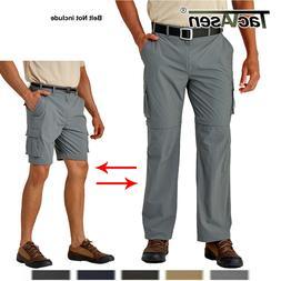 Zip Off Summer Men's Quick Dry Hiking Pants Convertible Trav