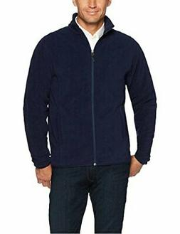 Amazon Essentials Men's Full-Zip Polar Fleece Jacket, Navy,